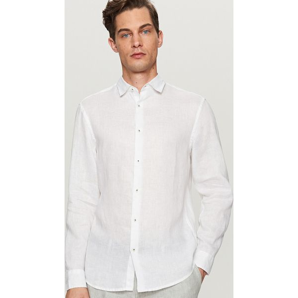 fantastic savings half off retail prices Lniana koszula regular fit - Biały
