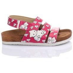 Rzymianki damskie: Sandały w kolorze różowo-białym