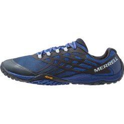 Merrell GLOVE 4 Obuwie do biegania Szlak blue. Niebieskie buty do biegania męskie Merrell, z gumy. Za 419,00 zł.
