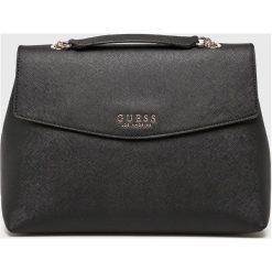 Guess Jeans - Torebka. Czarne torebki klasyczne damskie Guess Jeans, z aplikacjami, z jeansu, duże. Za 599,90 zł.