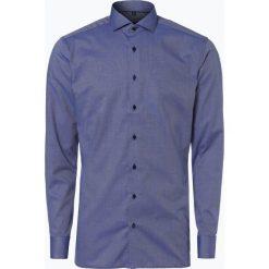 Koszule męskie na spinki: Eterna Slim Fit – Koszula męska niewymagająca prasowania, niebieski