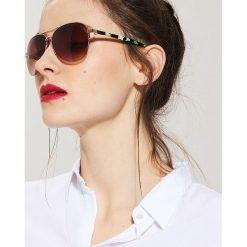 Okulary przeciwsłoneczne damskie: Okulary przeciwsłoneczne aviatorki – Wielobarwn