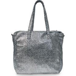 Torba shopper metallic bonprix szaro-srebrny kolor. Szare torby plażowe marki Monnari, w paski, ze skóry ekologicznej. Za 49,99 zł.