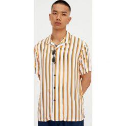 Koszule męskie na spinki: Koszula z krótkim rękawem w białe paski