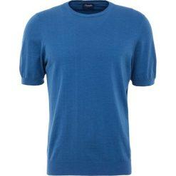 Drumohr Tshirt basic blu. Białe koszulki polo marki Bambi, l, z nadrukiem, z okrągłym kołnierzem. W wyprzedaży za 394,50 zł.