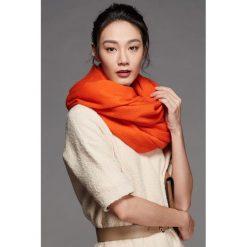Szaliki damskie: Szal w kolorze pomarańczowym - (D)180 x (S)70 cm