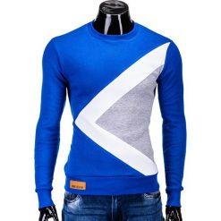 Bluzy męskie: BLUZA MĘSKA BEZ KAPTURA ERICO B575 – NIEBIESKA