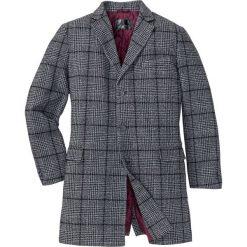 Krótki płaszcz z domieszką wełny bonprix szaro-czarny w kratę. Czarne płaszcze na zamek męskie bonprix, m, z wełny. Za 349,99 zł.