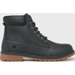 Fila - Buty Maverick Mid. Czarne buty trekkingowe męskie Fila, z materiału, na sznurówki, outdoorowe. Za 299,90 zł.