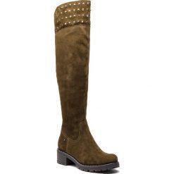 Muszkieterki EVA MINGE - Ripollet 4AA 18SM1372507EF 862. Zielone buty zimowe damskie marki Eva Minge, ze skóry, na obcasie. W wyprzedaży za 439,00 zł.