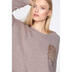Swetry damskie: Khaki Sweter Gentle