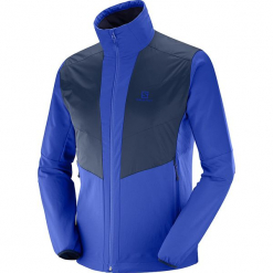 """Kurtka funkcyjna """"Active Wing JKT"""" w kolorze niebiesko-granatowym. Niebieskie kurtki męskie Salomon, m, z materiału. W wyprzedaży za 318,95 zł."""