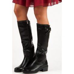 CZARNE KOZAKI VINCEZA. Czarne buty zimowe damskie Vinceza. Za 189,00 zł.