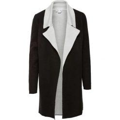 Płaszcz dzianinowy bonprix czarno-biel wełny. Czarne płaszcze damskie pastelowe bonprix, z dzianiny. Za 129,99 zł.