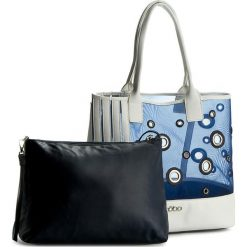 Torebka NOBO - NBAG-1110-C013 Biały Granatowy. Białe torebki klasyczne damskie marki Nobo, z materiału. W wyprzedaży za 159,00 zł.