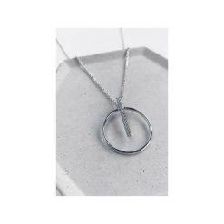 Srebrny naszyjnik koło z cyrkoniami. Szare naszyjniki damskie Atdiament, srebrne. Za 139,00 zł.