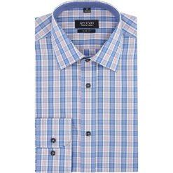 Koszula carral 2319 długi rękaw slim fit niebieski. Niebieskie koszule męskie slim Recman, m, z długim rękawem. Za 89,99 zł.