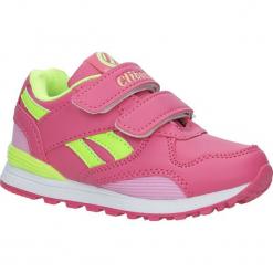 Różowe buty sportowe na rzepy ze skórzaną wkładką Casu K-185. Czerwone buciki niemowlęce Casu, na rzepy. Za 59,99 zł.