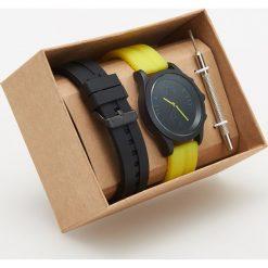 Zegarki męskie: Zegarek z wymiennymi paskami – Zielony