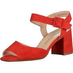 Rzymianki damskie: Skórzane sandały w kolorze czerwonym