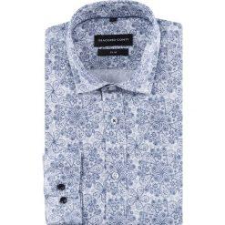 Koszula SIMONE slim KDWS000504. Szare koszule męskie na spinki marki S.Oliver, l, z bawełny, z włoskim kołnierzykiem, z długim rękawem. Za 169,00 zł.