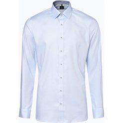 Koszule męskie na spinki: OLYMP No. Six - Koszula męska łatwa w prasowaniu, niebieski