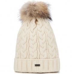 Czapka damska 87-HF-201-9. Brązowe czapki zimowe damskie marki Wittchen, na zimę, z dzianiny. Za 59,00 zł.