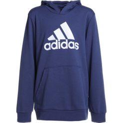 Adidas Performance LOGO HOOD Bluza z kapturem dark blue/white. Niebieskie bluzy chłopięce rozpinane marki adidas Performance, z bawełny, z kapturem. W wyprzedaży za 143,65 zł.
