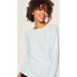 Sweter - Niebieski. Niebieskie swetry klasyczne damskie Reserved, l. Za 69,99 zł.