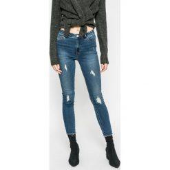Only - Jeansy. Szare jeansy damskie marki ONLY, s, z bawełny, casualowe, z okrągłym kołnierzem. W wyprzedaży za 99,90 zł.