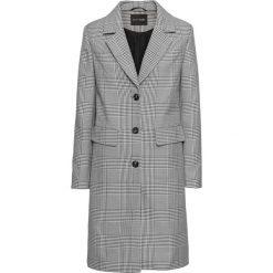 Płaszcz w kratę bonprix czarno-biały w kratę. Białe płaszcze damskie bonprix. Za 139,99 zł.