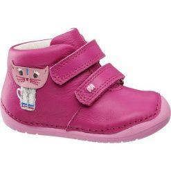 Buciki dziecięce Elefanten różowe. Czerwone buciki niemowlęce chłopięce Elefanten, z materiału, na rzepy. Za 139,90 zł.