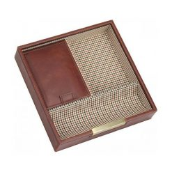 Pudełko na spinki i zegarki Stackers pojedyncze karmelowe kratka. Szare zegarki męskie marki Stackers. Za 146,00 zł.