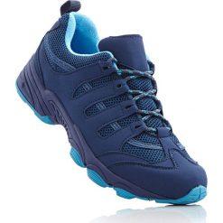Kozaki trekkingowe bonprix ciemnoniebiesko-turkusowy. Niebieskie buty sportowe męskie marki bonprix, z materiału. Za 89,99 zł.