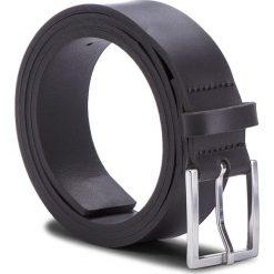 Pasek Męski CALVIN KLEIN - L3on Belt K50K502232 001. Czarne paski damskie marki Calvin Klein, w paski, ze skóry. W wyprzedaży za 189,00 zł.