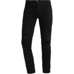 Jeansy męskie regular: 12 Midnight RIPPED Jeans Skinny Fit black