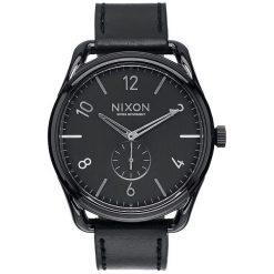 Zegarki męskie: Zegarek męski Black Nixon C45 Leather A4651000