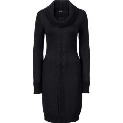 Sukienki dzianinowe: Sukienka dzianinowa z golfem bonprix czarny