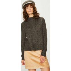 Jacqueline de Yong - Sweter. Brązowe swetry klasyczne damskie Jacqueline de Yong, l, z dzianiny. Za 89,90 zł.
