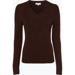 Brookshire - Sweter damski, brązowy. Czarne swetry klasyczne damskie marki brookshire, m, w paski, z dżerseju. Za 149,95 zł.