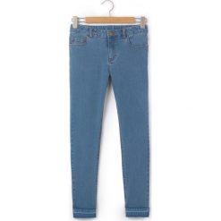 Dżinsy skinny. Szare spodnie chłopięce La Redoute Collections, z bawełny, z standardowym stanem. Za 79,80 zł.