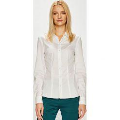 Guess Jeans - Koszula. Szare koszule jeansowe damskie Guess Jeans, l, z aplikacjami, klasyczne, z klasycznym kołnierzykiem, z długim rękawem. Za 319,90 zł.