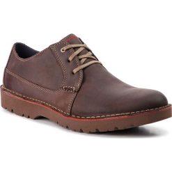 Półbuty CLARKS - Vargo Plain 261366757  Dark Brown Leather. Brązowe półbuty skórzane męskie Clarks. W wyprzedaży za 259,00 zł.
