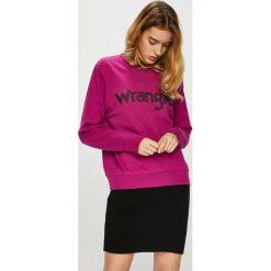 Wrangler - Bluza. Czerwone bluzy rozpinane damskie Wrangler, l, z nadrukiem, z bawełny, bez kaptura. Za 199,90 zł.