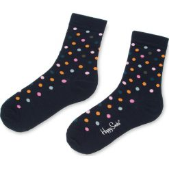 Skarpety Wysokie Unisex HAPPY SOCKS - DOT01-6003 Czarny Kolorowy. Czarne skarpetki męskie marki Happy Socks, w kolorowe wzory, z bawełny. Za 34,90 zł.