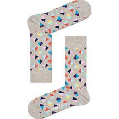 Happy Socks - Skarpety Pyramid. Szare skarpetki męskie Happy Socks, z bawełny. W wyprzedaży za 27,90 zł.