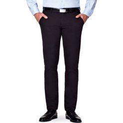 Spodnie Czarne Chino Tommy II. Czarne chinosy męskie LANCERTO, w kolorowe wzory, z bawełny. Za 299,90 zł.