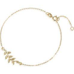 Piękna Bransoletka Złota - złoto żółte 375. Żółte bransoletki damskie sznurkowe marki W.KRUK, złote. Za 369,00 zł.
