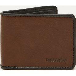 Dwukolorowy portfel ze sztucznej skóry. Brązowe portfele męskie Pull&Bear, ze skóry. Za 59,90 zł.