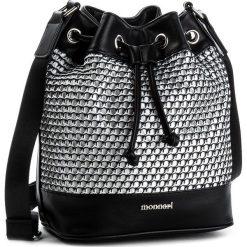 Torebka MONNARI - BAG5830-020 Black. Czarne torebki worki Monnari, z materiału. W wyprzedaży za 109,00 zł.
